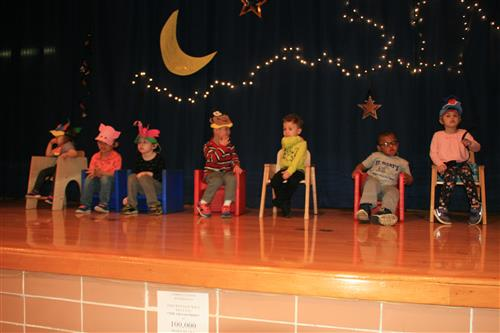 Preschoolers performing at the SMSD Annual Music Show